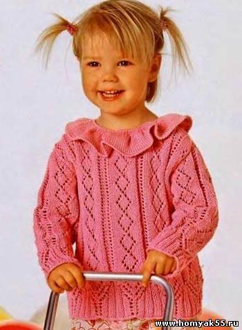Вязание детской кофточки крючком i