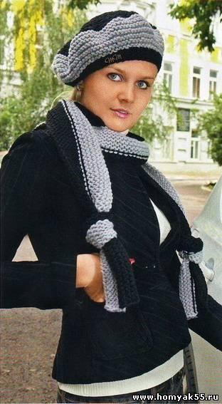 """Берет и шарф """"Осенняя сказка"""""""