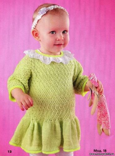 Салатовое платье на 1-1,5 года