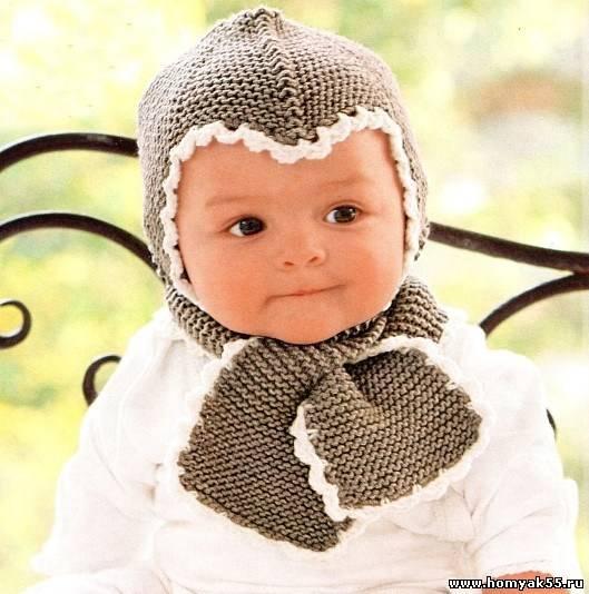 Вязание спицами шапочки для детей от 0 до 3 лет с описанием и схемами спицами