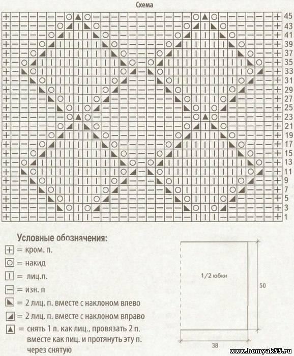 Вязание схема ажурного рисунка 27