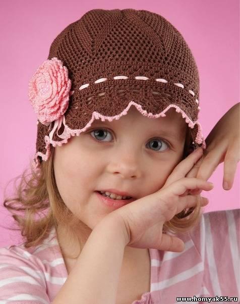 Далее вяжите 10 рядов по схеме 1 = 16 см в диаметре ... . Осенняя шапочка для девочки с помпоном.Вязание спицами и