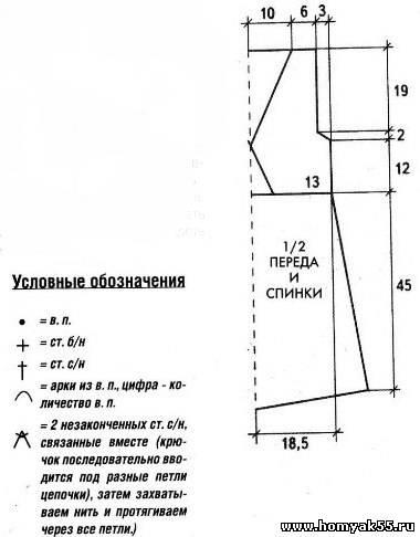 Вязание крючком пляжное схемы 824