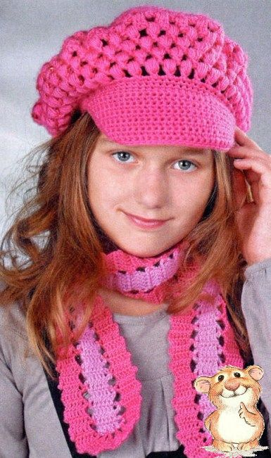 Кепи и шарфик для девочки