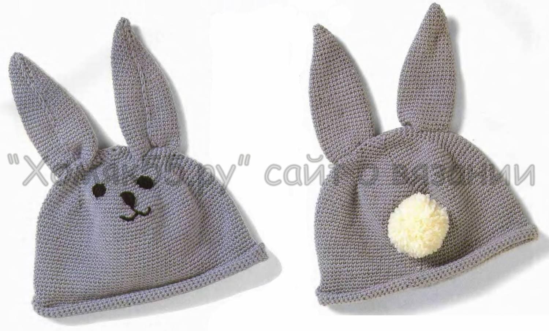 Как сделать шапочку зайца своими руками видео
