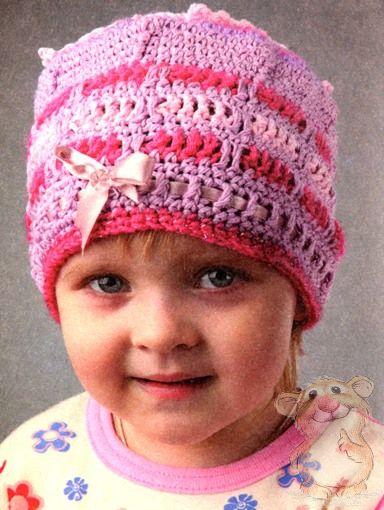 Детские летие вязанные шапки для детей