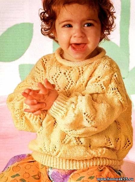 пуловер для малыша спицами