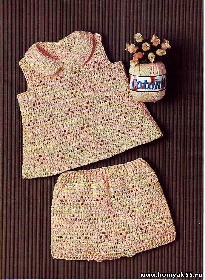 Топ и шорты для малышки