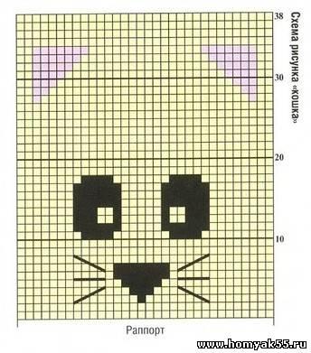 схема вязания шапочки мишки панды с