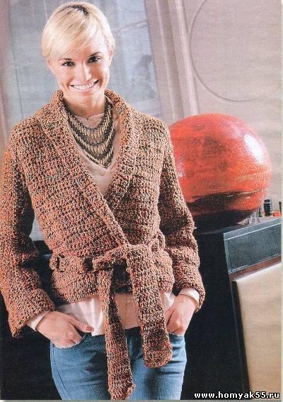 Фото вязание крючком кардиган кофта для взрослых