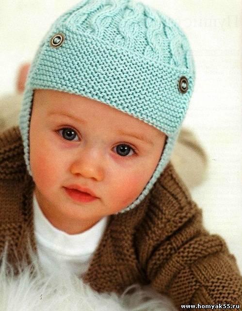 Шапочка - шлем с косичками