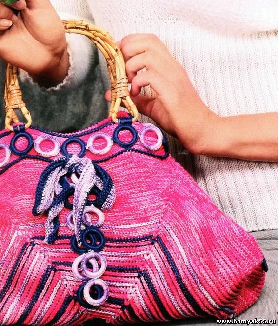 Вязанная сумка с кольцами