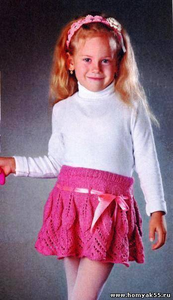Схемы вязания для девочек юбки спицами
