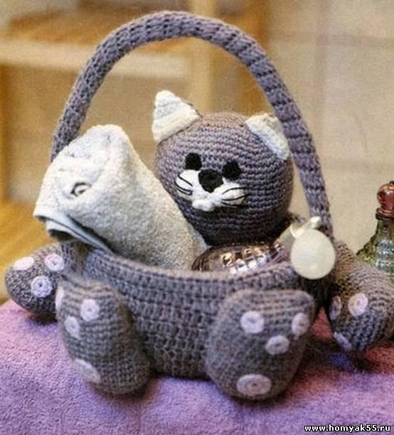 кот корзиночка для ванной