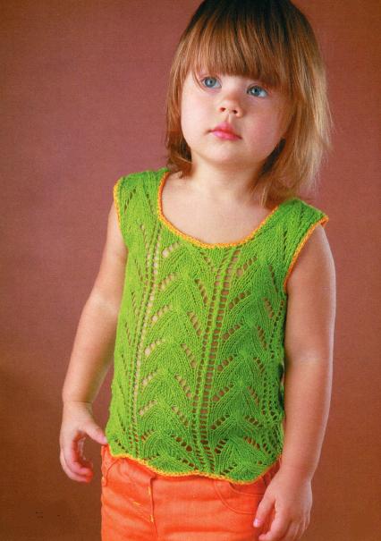 Вязание детских топиков спицами 10