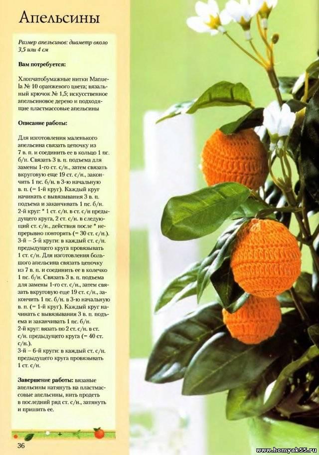 Апельсины крючком