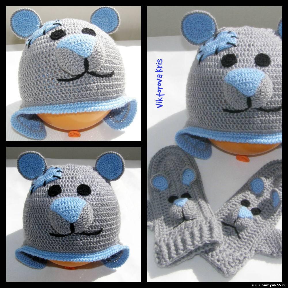 Jul 18, 2012 - Вязание детской летней шапочки Мишка Маленький мишка для вашего малышки.  И радуйте малыша новой...