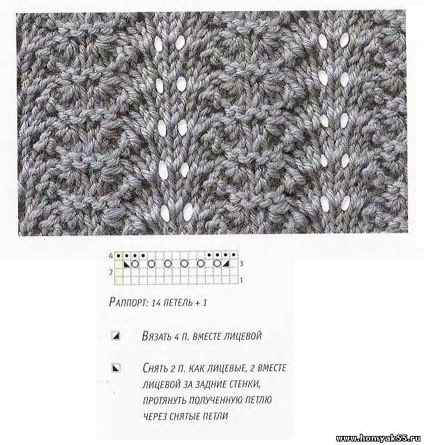 Вязание веером спицами 49