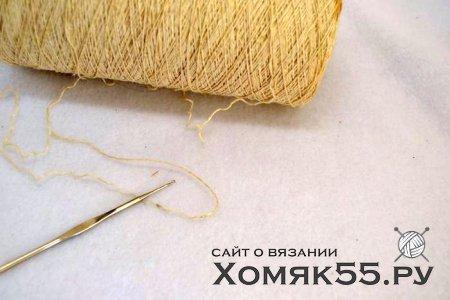 МК Круглая салфетка (вязание крючком)
