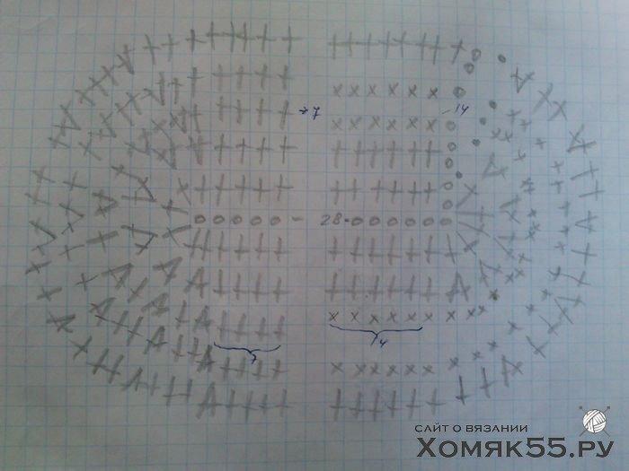 Схема вязания тапочек сапожек крючком