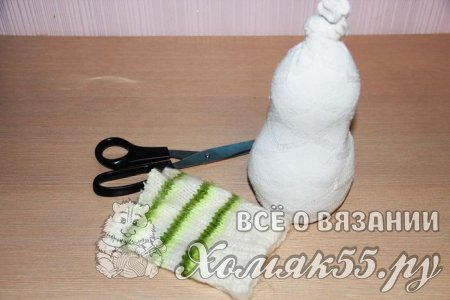 Снеговик и снеговик-малютка из носков за 15 минут