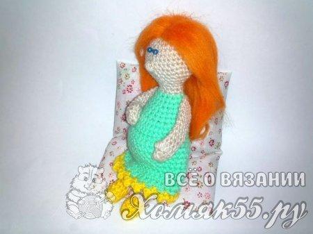 Беременная кукла крючком