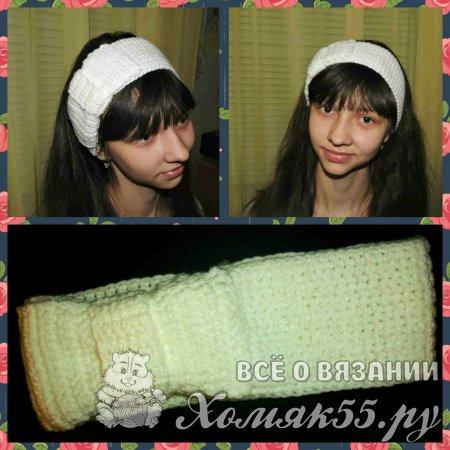 Белая повязка на голову
