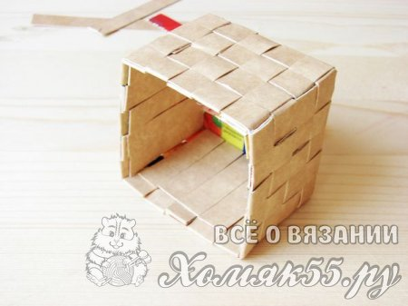 Корзинка из картона