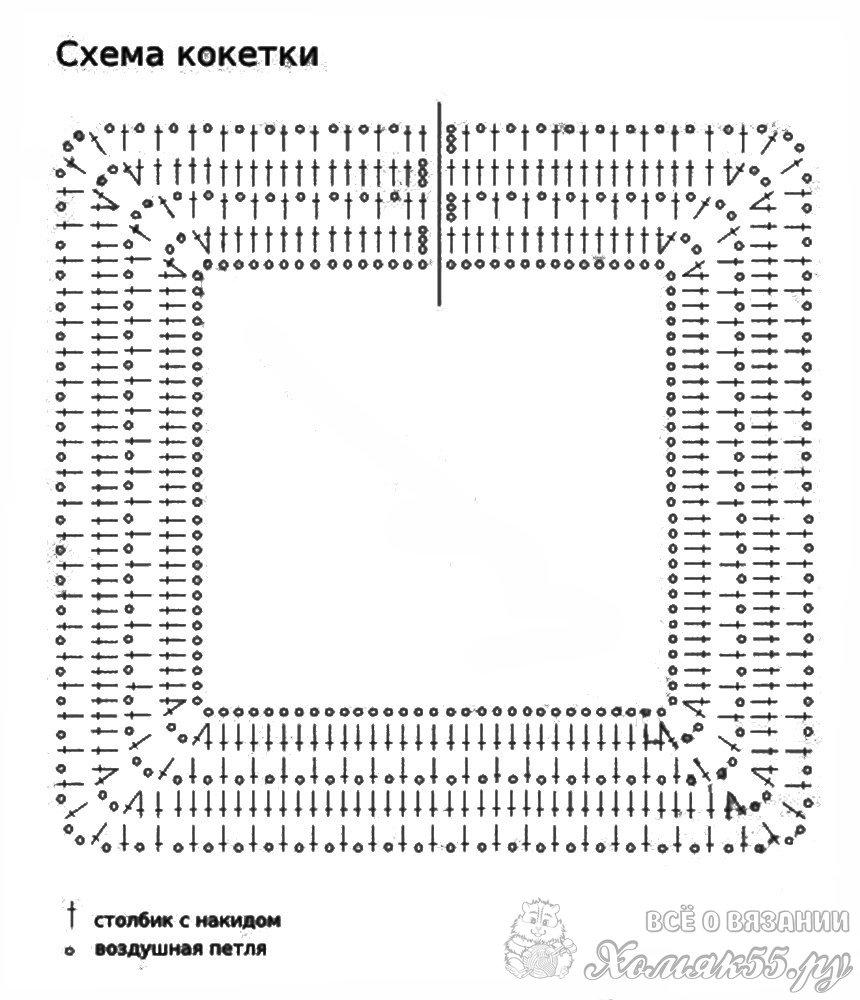 Вязание крючком кокетка для детского платья 239