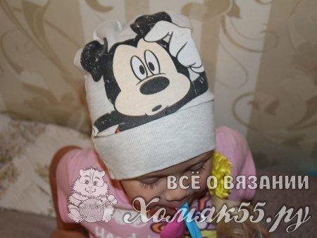 Шапка новорожденной своими руками