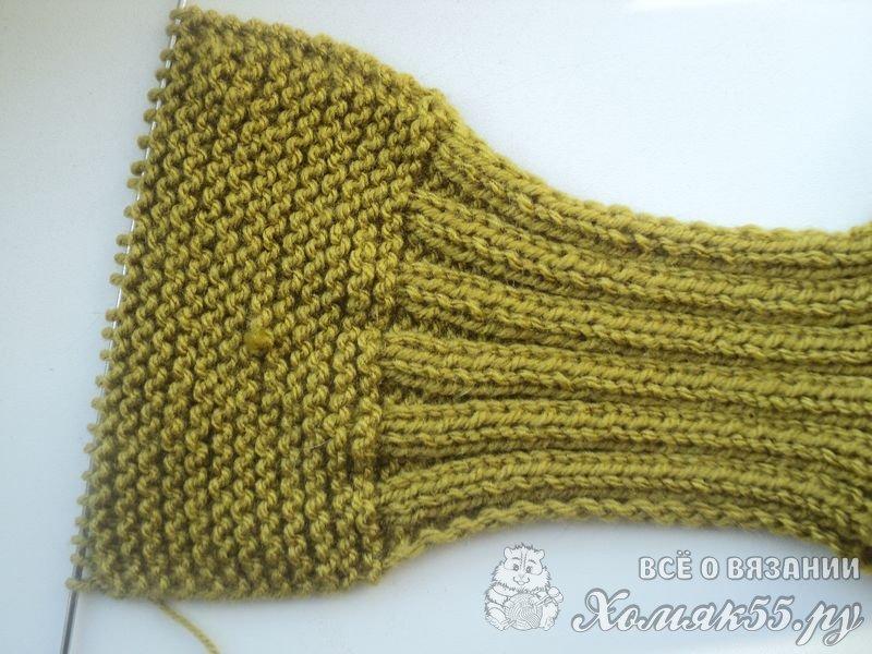Вязание детских шарфиков спицами для начинающих 75