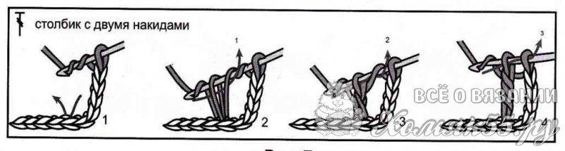 Схема столбика с тремя накидами