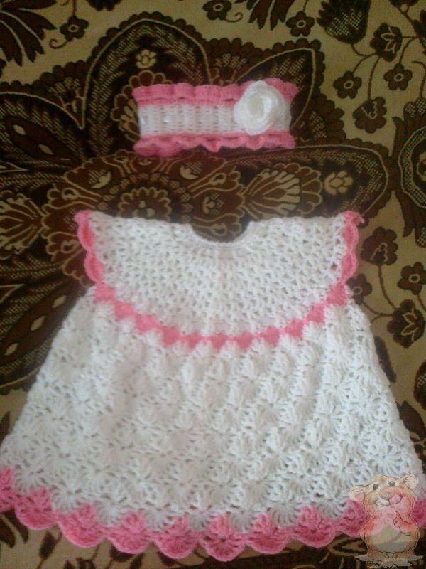 Вязание крючком платье пушинка