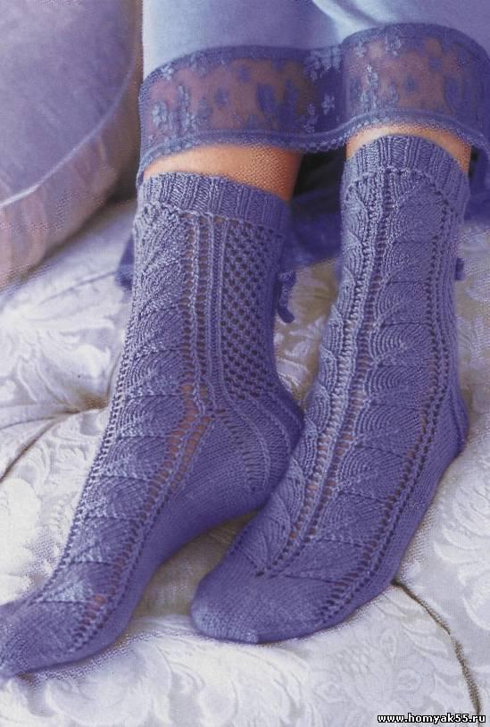 Ажурные носочки спицами схема 215