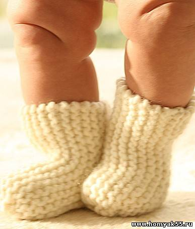 Схема вязания носочков для детей спицами