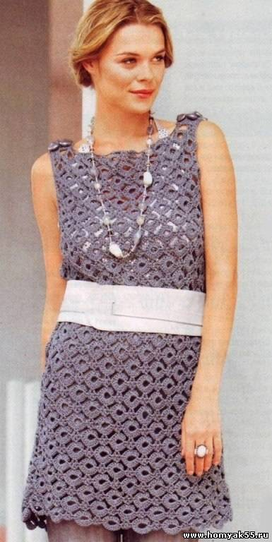 Платье туника крючком мастер-класс