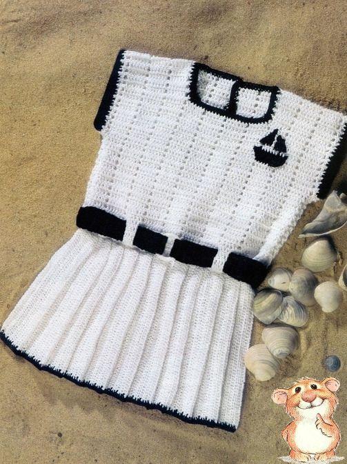платья туники сарафаны для девочек крючком