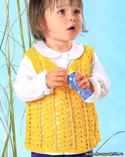Безрукавки на возраст 4 года крючком
