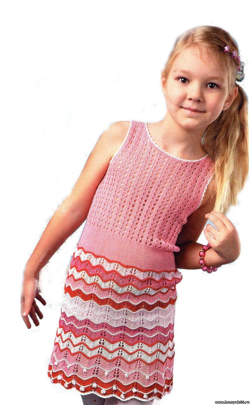 Летние платья для девочки 5 лет вязать