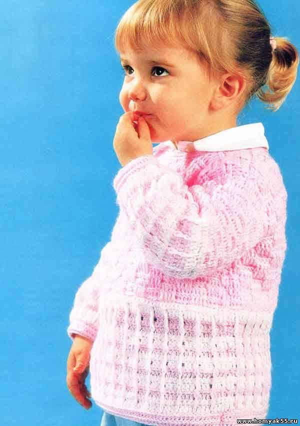 Жакет для девочки крючком схемы и описание