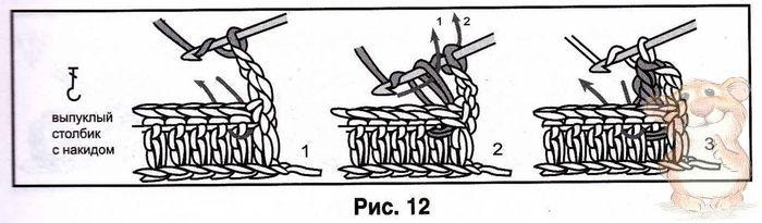 Видео как вязать вогнутый столбик с накидом крючком