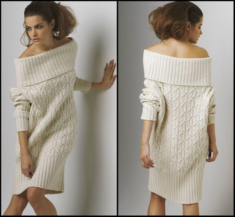 Схема вязания модного платья
