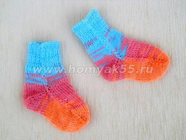 Вязание детских носочек схема