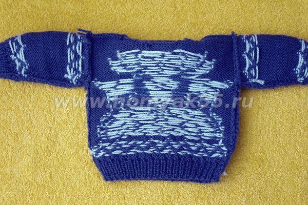 Вязание спицами разными цветом