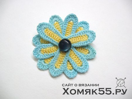 Цветок, связанный крючком. Мастер-класс