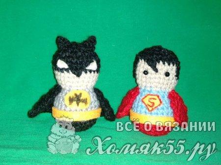 Бэтмен и супермен крючком
