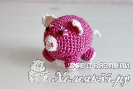 Вязаная крючком свинка
