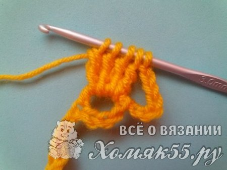Повязка на голову «Жёлтые бабочки» крючком