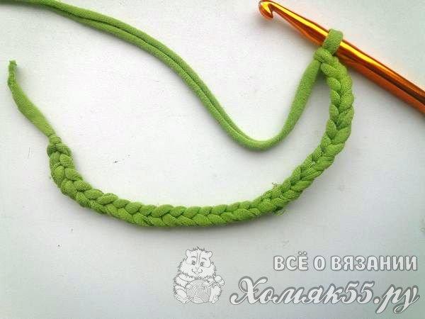 5c5556e26fd3 Сумка крючком из трикотажной пряжи