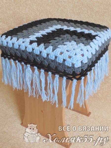 Накидка на стул крючком со схемами